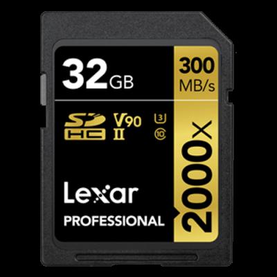Thẻ nhớ Lexar® 2000x SDHC™/SDXC™ UHS-II Cards